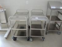 2 X mobiletrolley 0,8,0,5xH0,85m with 2 trays