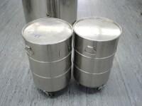 2x stainless steel barrel