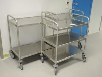 3 mobile cart trolley Stainless steel with 3 trays