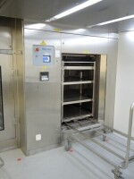 Steam Sterilizer 5 & loading trolley and rack