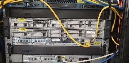 CISCO MODEL 3495 ISE SECURE NETWORK SERVER WITH 2 X 10K X 600gb SAS DRIVES, SERIAL NO.FCH1747V0LU