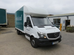 Mercedes Benz Sprinter 313 CDI 3.5T Luton Van with Chiltern / Slim Jim 500kg Capacity Tail Lift Registration No. T700 WLF First Registered July 2015, 147,864 Recorded Miles (as of 1/09/2021), MOT Until 20/1/2022 (Engine Warning Light Active) HS Code 87/