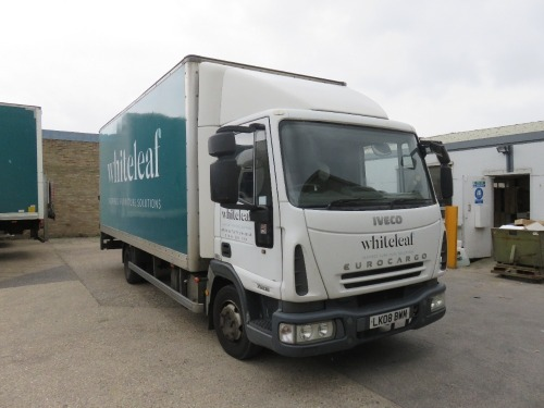 Iveco ML75E16 7.5T Box Truck with Palfinger Tail Lift Registration No. LK08 BWM First Registered March 2008 469,212Recorded Kilometres (as of 1/09/2021), Annual Test Valid Until 31/3/2022 HS Code 87/04