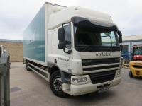 DAF FA CF 65.250 18T Box Truck with Dhollandia Tail Lift Registration No. S600 WLF First Registered December 2013 430,658Recorded Kilometres (as of 1/09/2021), Annual Test Valid Until 31/8/2022 HS Code 87/04