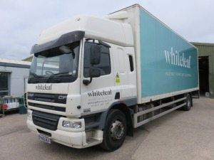 DAF FA CF 65.250 18T Box Truck with Tail Lift Registration No. P400 WLF First Registered December 2013) with DMS Cameras (Fitted 2021) 390,493 Recorded Kilometres (as of 1/09/2021), Annual Test Valid Until 31/7/2022 HS Code 87/04