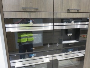 Fitted Kitchen Comprising Siemens HB6B80C0 Steaming Ovens and Type CTE533W Coffee Machine (Microwave, Conventional Oven and Plate Warmer Excluded), Siemens 4 Pan Ceramic Hob, Caple 6 Tier Wine Bottle Chiller, Siemens Type KULL14A Integrated Under Counter