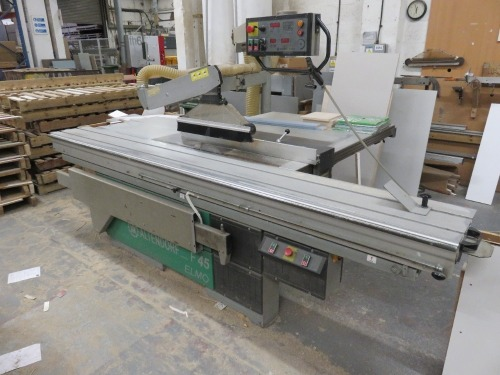 Altendorf F45 ELMO 3 Panel Saw Bench No. 96-12-105 (1996) with DIGIT-L Measuring Device, Altendorf Duplex Mitre Fence and Twin-Bag Dust Extraction unit (Full RAMS Documentation Required Prior to Removal of Asset) HS Code 84/65/91