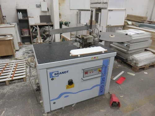 Brandt KTD 720 Optimat Hand Edging Machine No. 0-260-20-7040 (2013) (Full RAMS Documentation Required Prior to Removal of Asset) HS Code 84/65/99/00/00
