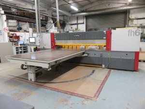 Schelling Type FH6 330/330 CNC Rear-Loading Panel Saw No. 221.149 (2008) with Roller Infeed Lift Table 90 Degree Turn Air Float Outfeed Table and Touch Screen Control (Full RAMS Documentation Required Prior to Removal of Asset) HS Code 84/65/99/00/00