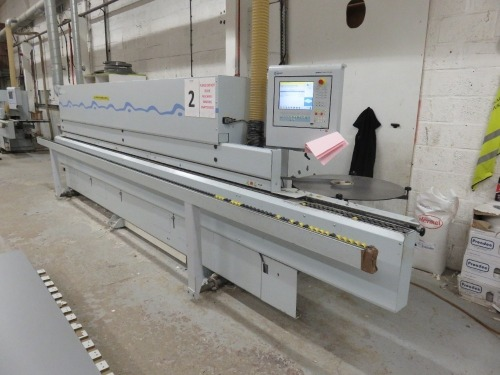 Brandt Type Optimat KDF 650C Edge Banding Machine No. 0-261-20-6635 (2012) with Power Control PC20+ Control Unit (Full RAMS Documentation Required Prior to Removal of Asset) HS Code 84/65/99/00/00