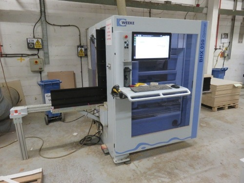 Weeke Type Optimat BHX050 CNC Vertical Router No. 0-250-95-3789 (2016) with Touch Screen Control (Full RAMS Documentation Required Prior to Removal of Asset) HS Code 84/65/99/00/00