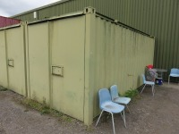 20ft Shipping Container to Include Contents ofNew Mattresses and Table Frames (Please see PDF Document for Details of Contents)(Please Note That These are Representative Photographs Only) - 2
