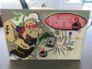 Oil on Canvas Painting 'I Love Popeye' Nick Shipton 2019