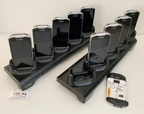 (10) TC51 HHT Touch Computers with 2 Cradles - No Batteries ** Please Note: This lot is offered subject to bulk bid offer on lot 49
