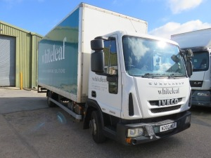 Iveco ML75E16 7.5T Box Truck with Tail Lift Registration No. N300 WLF First Registered March 2013 with DEL Trim Loader Tail Lift, 1000kg Capacity, 190,232RecordedMiles(as of 20/09/2021), Annual Test Valid Until 28/2/2022 HS Code 87/04