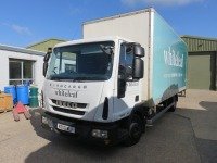 Iveco ML75E16 7.5T Box Truck with Tail Lift Registration No. N300 WLF First Registered March 2013 with DEL Trim Loader Tail Lift, 1000kg Capacity, 190,232RecordedMiles(as of 20/09/2021), Annual Test Valid Until 28/2/2022 HS Code 87/04 - 2