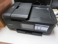 Open Plan Office Containing (3) Canon TR8550 All in One Printers, Brother HL-L2350DW Laser Printer, Zebra GC420T Label Printer and (34) Assorted Size Dell Monitors - 3