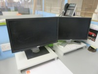 Mezzanine Office Containing (13) Assorted Size Monitors and Epson WF-7620 All in One Printer - 3