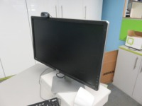 Mezzanine Office Containing (13) Assorted Size Monitors and Epson WF-7620 All in One Printer - 4