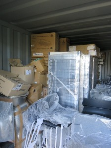 20ft Shipping Container to Include Contents of New Packaged Integrated & Freestanding Kitchen Appliances(Please see PDF Document for Details of Contents)(Stock Schedule Not Verified by Auctioneers)(Please Note That These are Representative Photographs