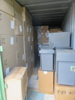 20ft Shipping Container to Include Contents ofNew Packaged and Unboxed Integrated Kitchen Waste Bins (Please See PDF Document for Details of Contents)(Stock Schedule Not Verified by Auctioneers)(Please Note That These are Representative Photographs Onl