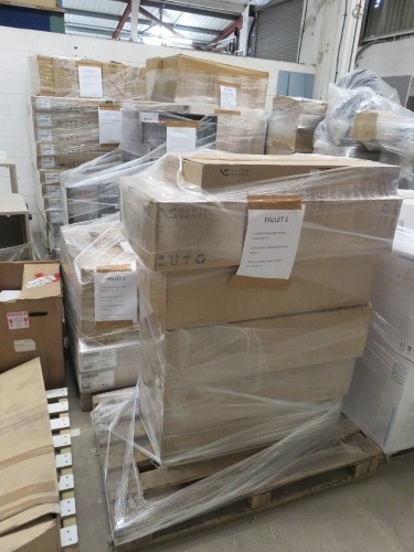 (15) Assorted Pallets Including Contents (Please see PDF Document for Details of Contents)(Please Note That These are Representative Photographs Only)