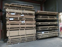 Large Quantity of Board Stock, kitchen worktops, splashbacks and other cut material as Lotted (Please See PDF Document For Details of Contents of Stock) (Please Note That These are Representative Photographs Only)